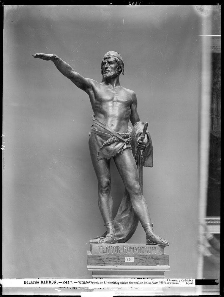 Escultura de Viriato de Eduardo Barrón. Presentada a la Exposición Nacional de Bellas Artes de 1884