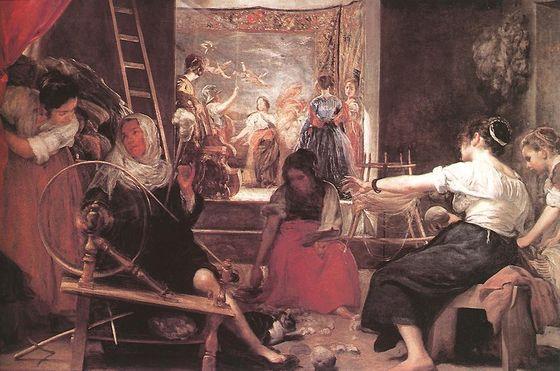 1656 Hilanderas o Fábula de Aracne. Diego de Velázquez