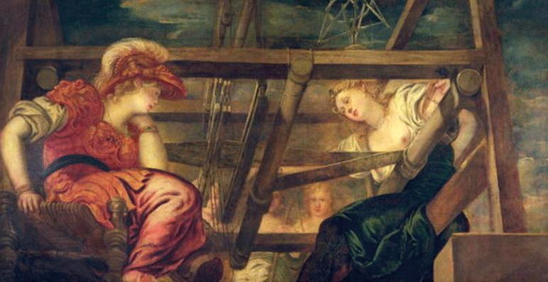 Atenea y Aracne, c.1475- 85, Jacopo Tintoretto